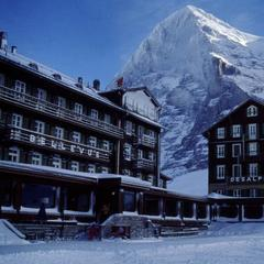 Hotel Bellevue des Alpes in front of the Eiger, Grindelwald