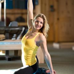 Amie is also an instructor at The Bar Effect, a workout studio owned and operated by former pro snowboarder Michelle Shetler Rahlves.  - ©Weston Walker
