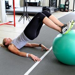 Ski Exercises: Swiss Ball Tri-fecta - ©Dan Kasper