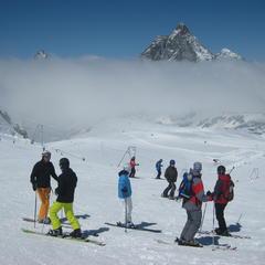Skiën in mei in gletsjerskigebied Zermatt - ©Patrick Thorne