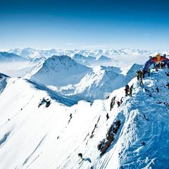 Starting point of the Verbier Freeride World Tour