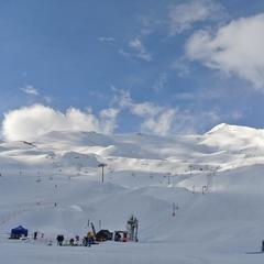 Excellentes conditions de ski sur le domaine de Piau Engaly