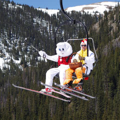 The Easter Bunny visits Arapahoe Basin each spring. - ©Photo courtesy Arapahoe Basin Resort.
