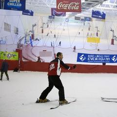 Snow Factor in Glasgow is the United Kingdom's largest indoor ski and snowboard facility featuring real snow.