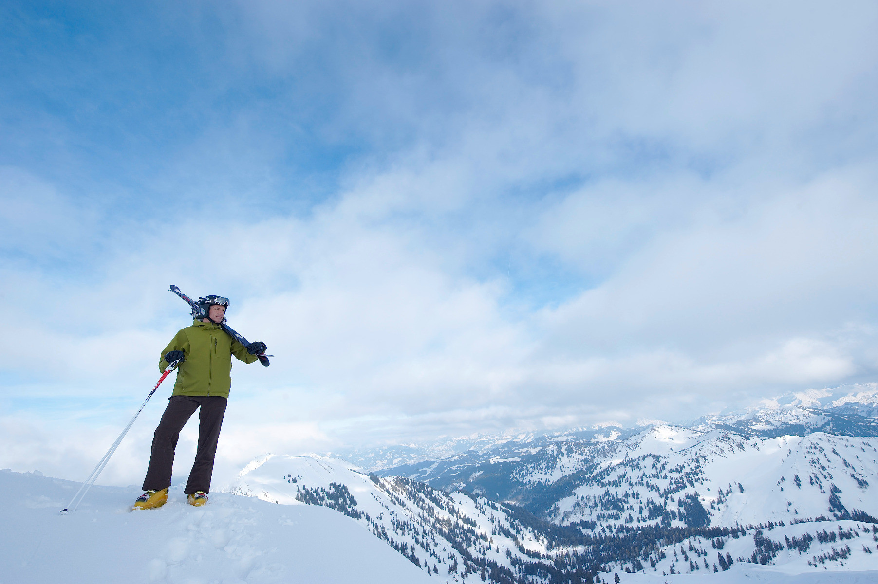 Skifahrer in Oberstaufen