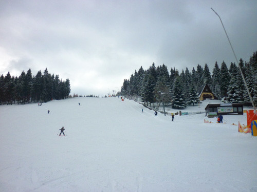 Skigebiet Carlsfeld im Erzgebirge