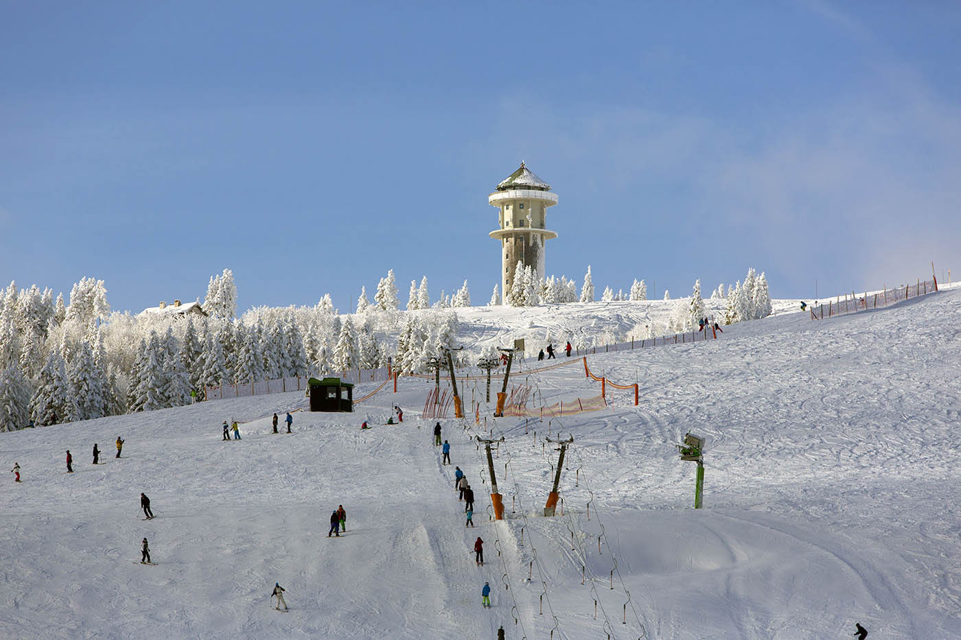 Optimale sneeuwcondities op de Feldberg, januari 2013