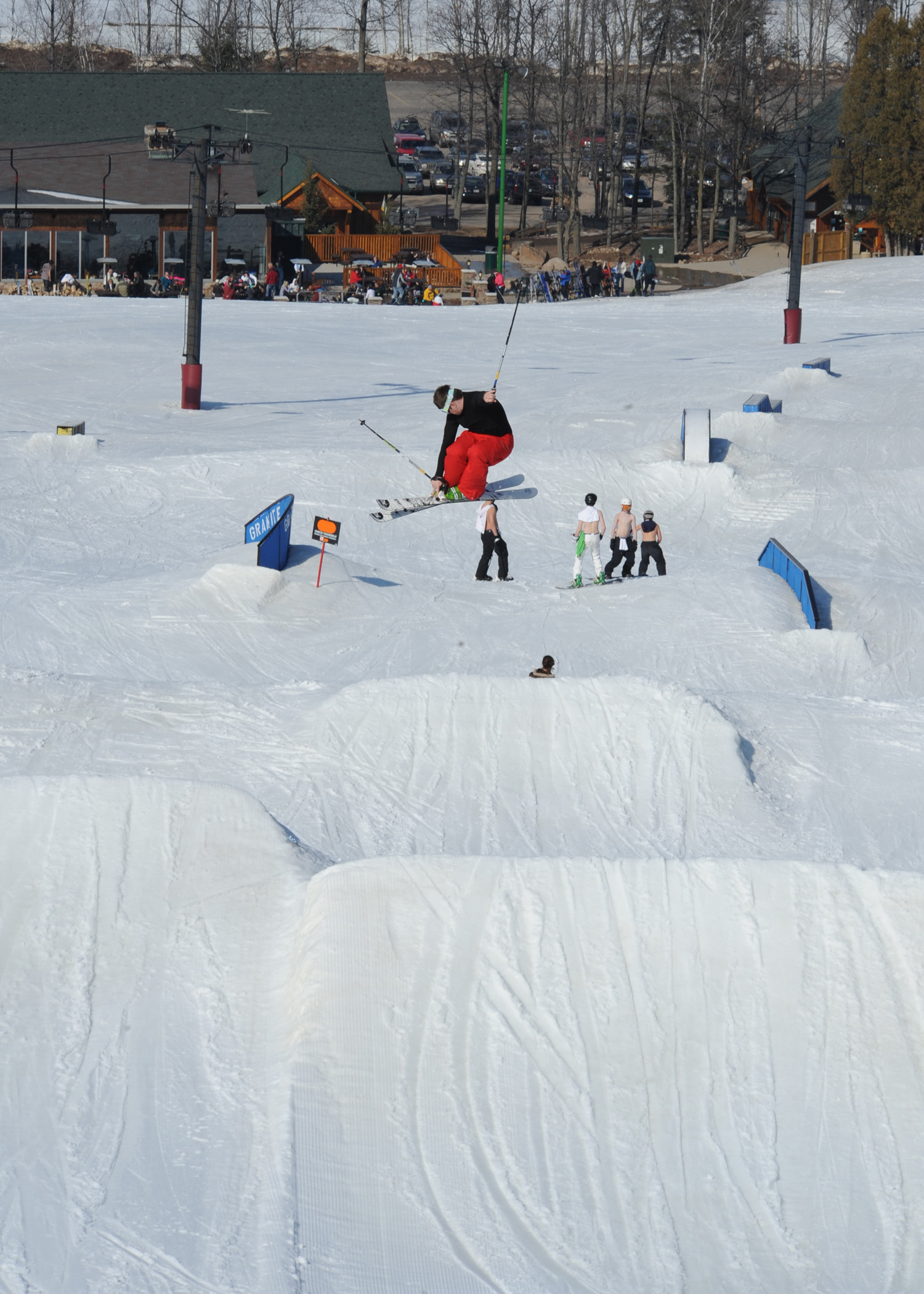 The terrain parks are great at Granite Peak Ski Area.undefined